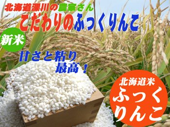 【北海道米】ふっくりんこ5kg北海道深川産