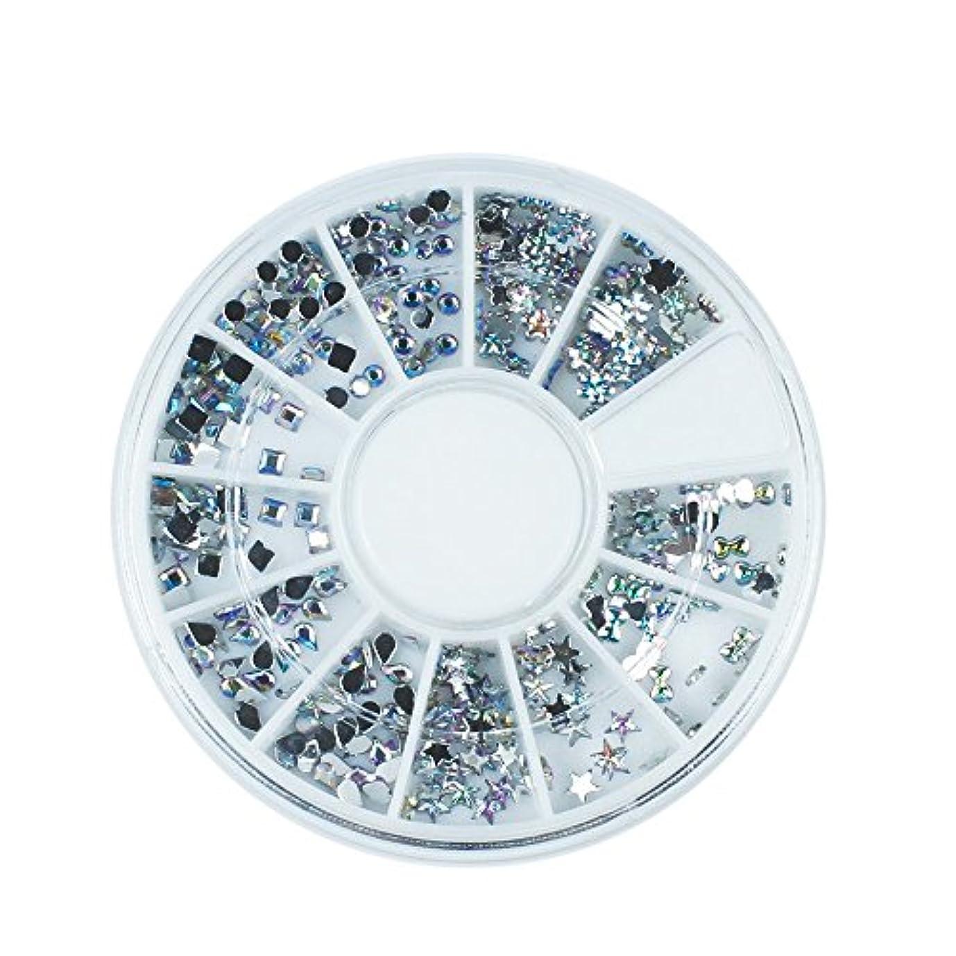 手伝う毒液けん引Artlalic ABレインボーネイルアートスタッズラインストーンキラキラダイヤモンド宝石3D先端石