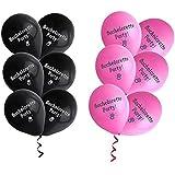 Doitsa 風船 バルーン 飾り付け バースデーパーティー 誕生日 アニバーサリー 結婚式 12個 ピンク+黒