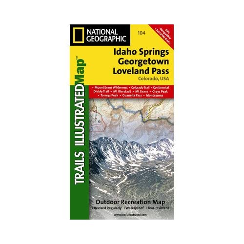 アイダホスプリングス - ラブランドのパスのナショナルジオグラフィックTI00000104地図 - コロラド州