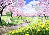 "pigbangbang、Stainedアートジグソーパズル子供大人用Literateジグソーパズル500ピース20.6X 15.1"" Made of ieceホームdecoration-nice Spring"