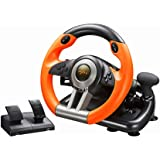 PXN V3II Simulate Racing Game Steering Wheel with Pedal, 180 Degree Steering Wheel, Compatible with Windows PC, PS3, PS4, Xbo