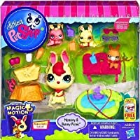 Littlest Pet Shop (リトルペットショップ) Magic Motion Mommy & Bunny Picnic Playset(並行輸入)