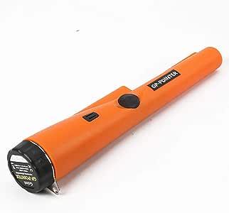 金属探知機 A-leaf 下地探し ゴールド検出器 軽量 高感度 宝探し 持ち物検査 LEDライト付き 防水 簡単操作携帯便利 (オレンジ)