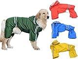 (エムズダイス)M's Dice 大型 中型 犬 用 レインコート 雨具 カッパ 《4カラー3サイズ》 (05.グリーン 5XL)
