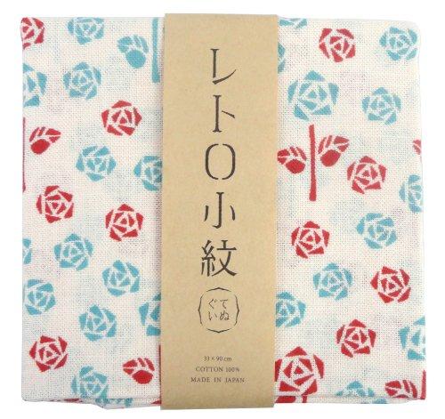 手拭い 『レトロ小紋てぬぐい』 お母さんの薔薇庭 3226 33×90cm