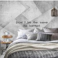 Lixiaoer カスタム壁画現代ミニマリストグレーセメント壁幾何テレビ背景壁紙寝室の壁紙-280X200Cm