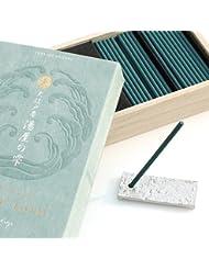【日本香堂】お香 大江戸香 湯屋の雫(ゆやのしずく) お香スティック60本 香立て付(錫製)