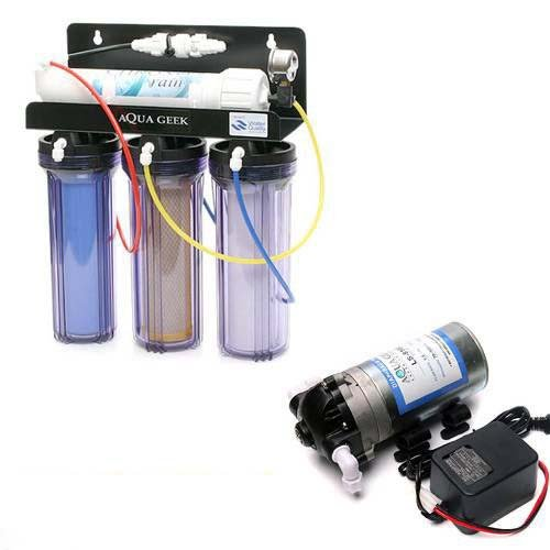逆浸透膜 クロノスレイン+専用加圧ポンプ