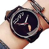 LACOSTE メンズ ZooooM おもしろ ウォッチ シンプル デザイン 文字盤 アナログ 腕 時計 ファッション アクセサリー ユニーク カジュアル メンズ レディース 男性 女性 (ニンジン:ブラック) ZM-TABEMOJI-NIBK