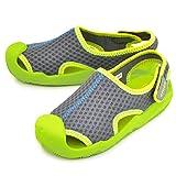クロックス キッズサンダル スウィフトウォーター 水陸両用 crocs swiftwater ウォーターシューズ ジュニア 子供靴 15.0-21.0cm 正規品 レジャー 海 プール キャンプ 靴/204024 (C10(17.5cm), (0A1)グラ