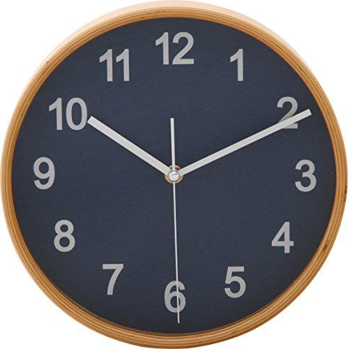 不二貿易『プライウッド 天然曲げ木時計』