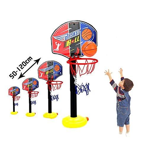 Benhonesh バスケットボールセット 50 – 120 CM高さ調節可能な スポーツポータブル バスケットボールスタンド 子供用 バスケットボールゴールフープ 玩具セット