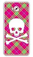 SECOND SKIN スカルパンク ピンク (クリア) / for ZenFone 4 Selfie ZD553KL/MVNOスマホ(SIMフリー端末) MAS4SF-PCCL-201-Y218