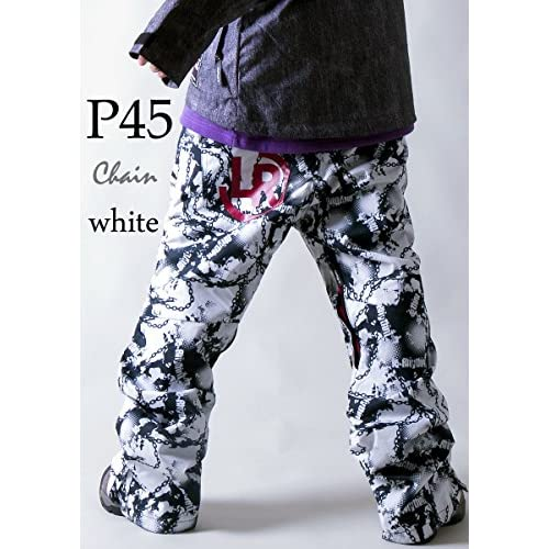 le-Rhythm(リアリズム) (XXL) 14-15ユニセックス メンズ レディース スノーボードウェア パンツ チェーンホワイト P45