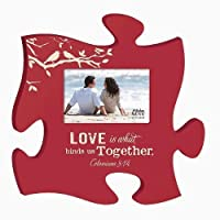 Love Is What Binds Us Together Colossians 3: 14パズルフォトフレーム12x 12by P Graham Dunn