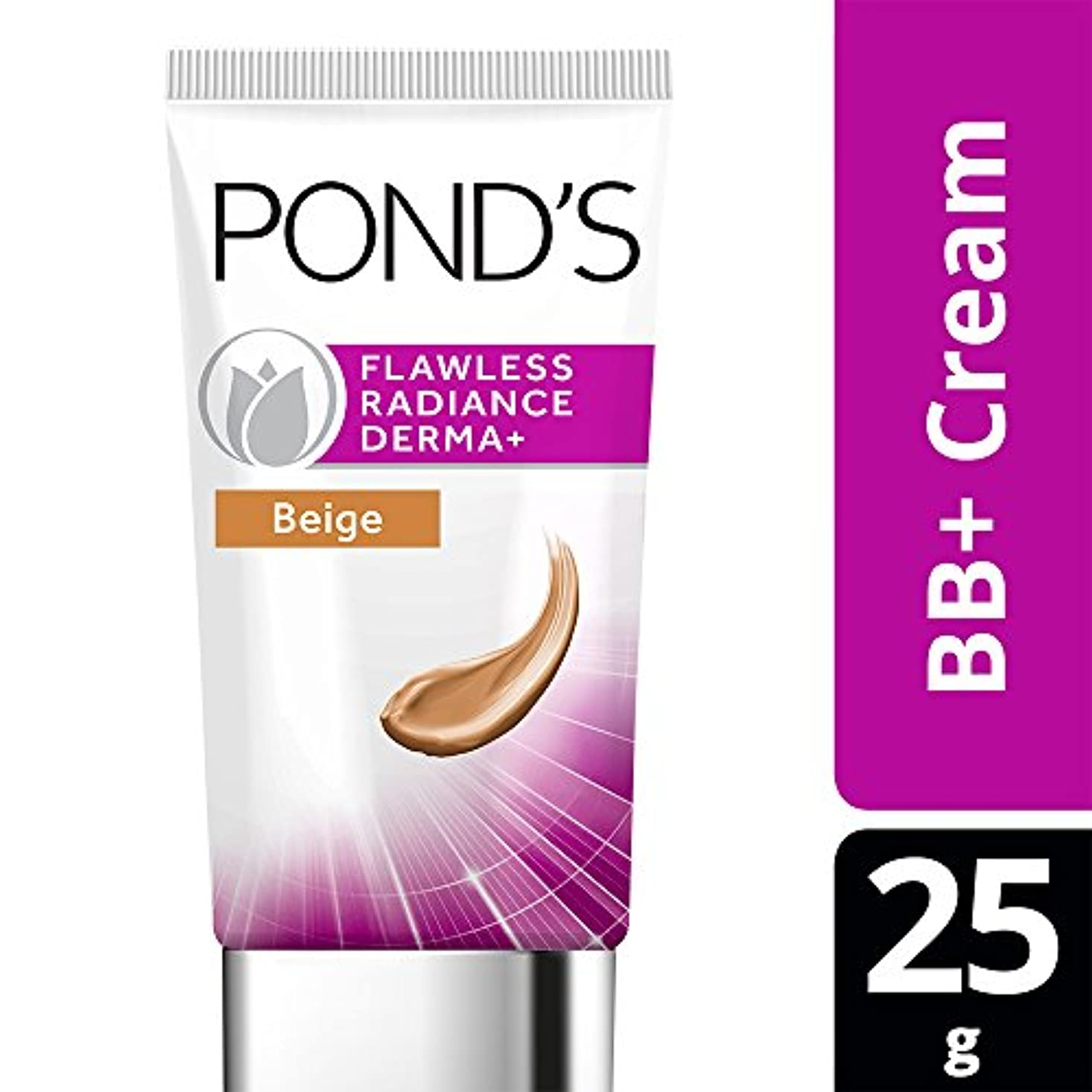 ペットティーム若いPOND'S Flawless Radiance Derma+ BB Cream Beige, 25g