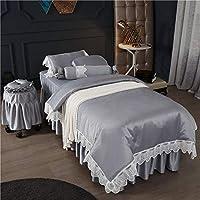 プレミアム シルク 美容 ベッド カバー 4 個セット,欧州 マッサージ テーブル シート セット ビューティーベッドボディマッサージベッドカバービューティーサロン-d 190*70cm