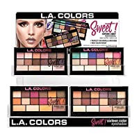 L.A. COLORS Sweet! 16 Color Eyeshadow Display Set, 60 pcs (並行輸入品)