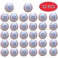 Macro Giant 9インチ(円周)7cm(直径)ソフトフォームベースボール、32個セット、単色(白)