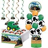 農家とトラクターのパーティー用品が詰まったトラクターピニャータ   20ピースキット 誕生日パーティーセット 印刷可能なトラクター/ファーム誕生日招待状 写真フレーム 誕生日チェックリスト ゲームアイデア   スタイル3