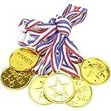 YeahiBaby ネックリボンゴールドオリンピックスタイルメダル(スポーツアカデミックまたはコンペティション)12個受賞賞