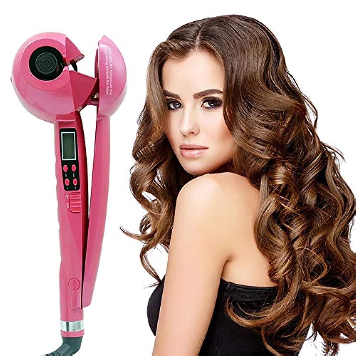 ブラウン迷路インク職業マイナスイオンヘアカーラー、液晶全自動セラミックス理髪ツール、マルチスタイラーロングショートウェットドライヘア用髪にダメージなし