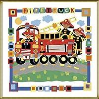 ポスター シェリル ピペルベルグ Firetruck 額装品 アルミ製ハイグレードフレーム(ゴールド)