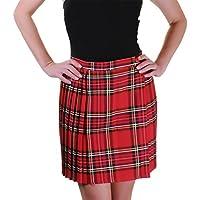 Rimi Hanger Womens Wrap Over Pleated Tartan Skirt Ladies Fancy Party Wear Short Midi Skirt AU 8-24