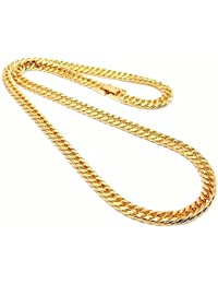 [ZIG's] 幅[6mm] 長さ[47?52?62?72?82cm] [ダブル喜平]チェーンネックレス 6面カット 鏡面GOLD 上質?高級感 (mc02) (52cm)