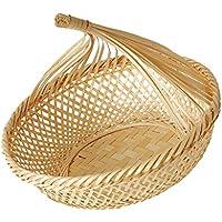 Baosity 手作り ナチュラル 竹製 バスケット フルーツ 野菜 バスケット ディスプレイ トレイ 全3種選べる  - #3, L