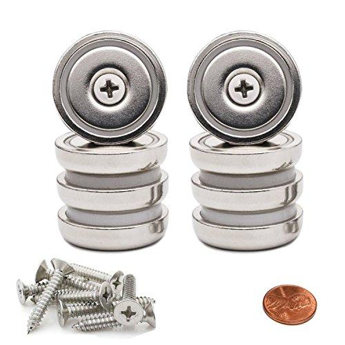 [해외]Aitsite 8 개들이 네오디뮴 자석 구멍 강력한 자석 자석 강력한 네오디뮴 자석 원형 접시 구멍 자석 직경 32MM 두께 8MM 나사 8 개 포함/Aitsite 8 pieces Neodymium magnet hole powerful magnet magnet strong power neodymium magnet round type ...