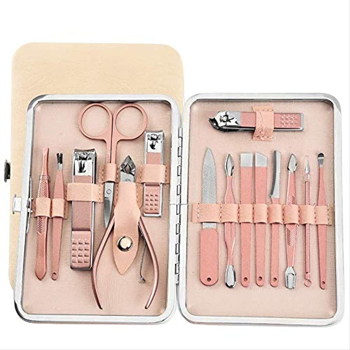 最終的に測る社員15爪はさみセット爪切りマニキュアツールセット爪美容ツール 15個