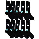 日本製靴下 綿100% ビジネス ソックス オーガニックコットン 黒 10足セット