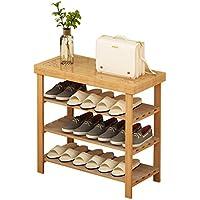 靴のラック玄関の後ろにソリッドウッドシンプルな多層靴のキャビネットシンプルな寮ベッドルームの靴のベンチシェルフストレージラック (サイズ さいず : 60 cm 60 cm)