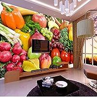 Lcymt 新鮮な果物野菜グレープバナナパイナップル写真壁画カスタマイズされたサイズの壁リビングルームの3D壁紙D-400X280Cm