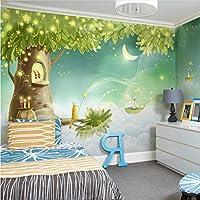 Lcymt 子供部屋夢漫画の背景カスタム3D写真壁紙ロールスロイスロマンチックなリビングルーム3D壁画壁紙用キッズルーム-200X140Cm