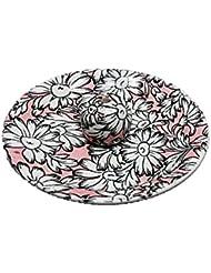 9-22 マーガレットピンク 9cm香皿 お香立て お香たて 陶器 日本製 製造?直売品