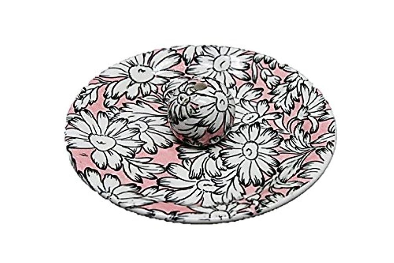 追放年次ほこりっぽい9-22 マーガレットピンク 9cm香皿 お香立て お香たて 陶器 日本製 製造?直売品