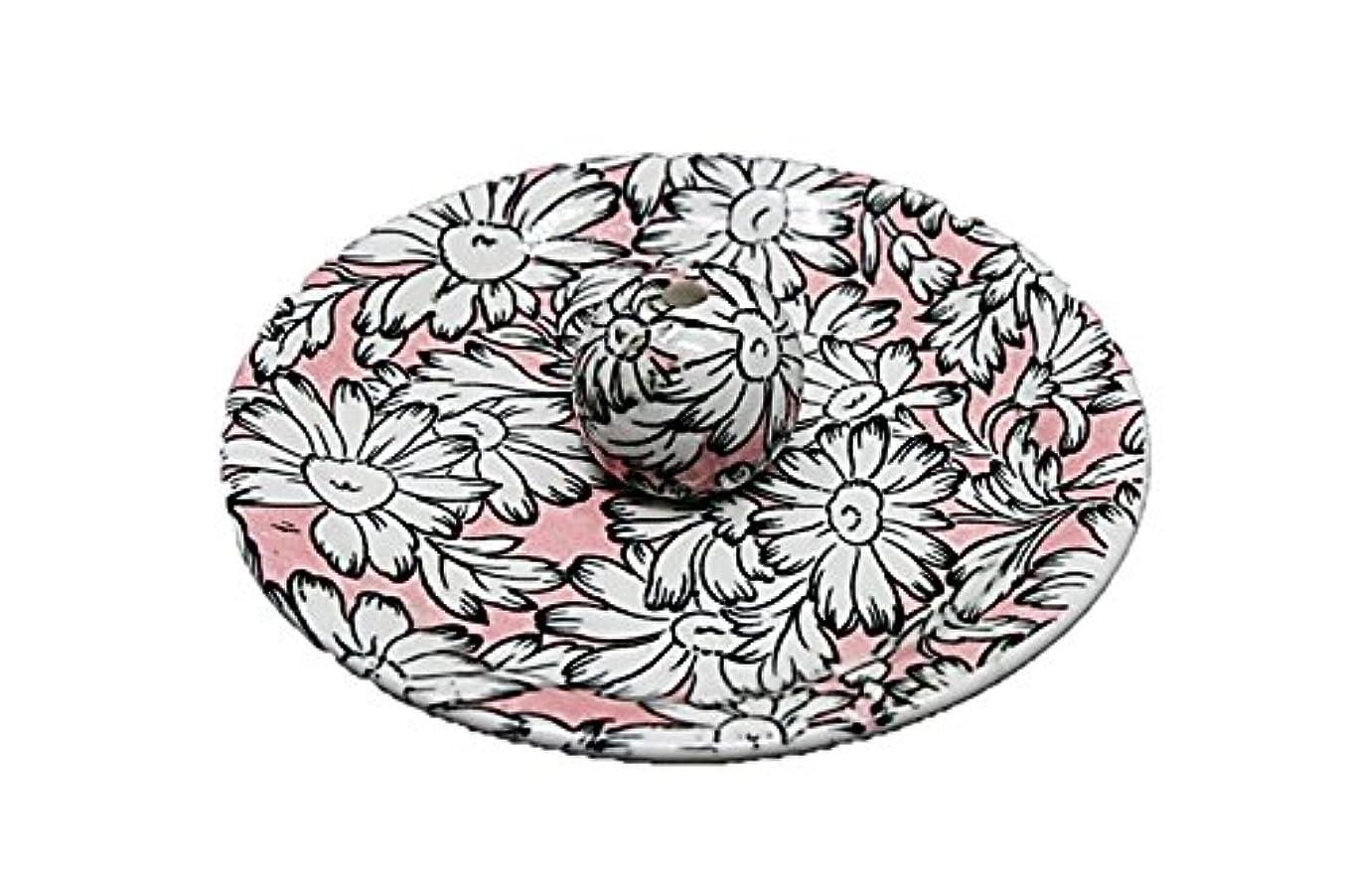 令状少数チューインガム9-22 マーガレットピンク 9cm香皿 お香立て お香たて 陶器 日本製 製造?直売品