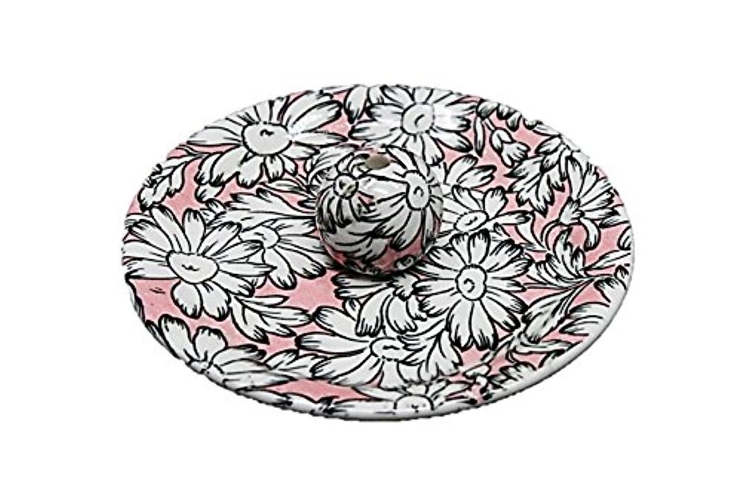 ふくろうつまらない掘る9-22 マーガレットピンク 9cm香皿 お香立て お香たて 陶器 日本製 製造?直売品
