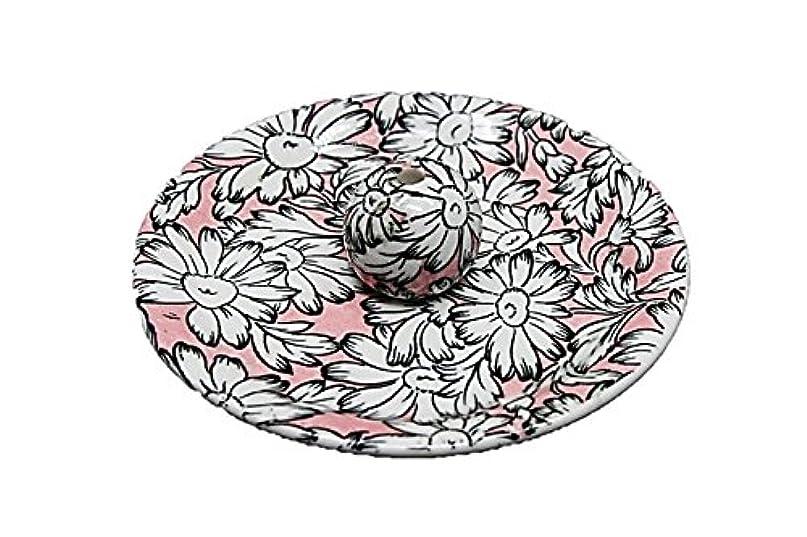 抽象化原始的なイサカ9-22 マーガレットピンク 9cm香皿 お香立て お香たて 陶器 日本製 製造?直売品