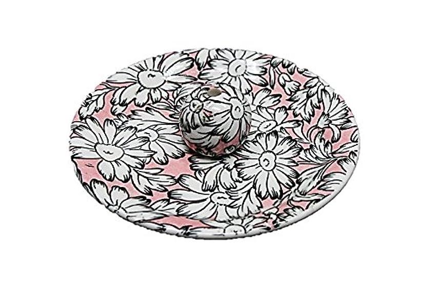 閉じる偏心辞書9-22 マーガレットピンク 9cm香皿 お香立て お香たて 陶器 日本製 製造?直売品