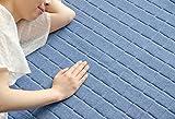 デニムラグ 190×240cm キルティングラグ 洗える 3畳 カーペット ラグマット 洗える 絨毯 じゅうたん オールシーズン使用 (Lサイズ・ブルー)