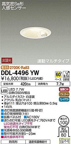 大光電機 LED人感センサー付ダウンライト DDL-4496YW