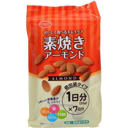 共立食品 素焼きアーモンド 196g(28g×7袋)
