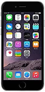 Apple au iPhone6 A1586 (MG4F2J/A) 64GB スペースグレイ