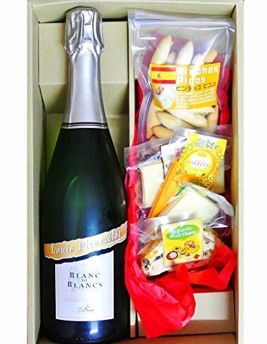 ギフト スパークリングワイン ヴァン・ムスー ブラン・ド・ブラン メトド・トラディシオネル ブリュット & チーズ4種&ピスコセット