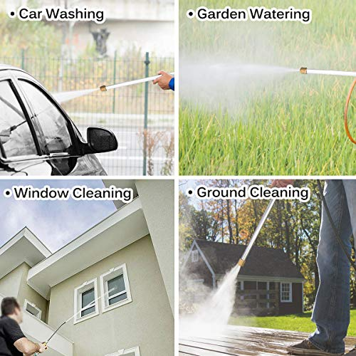 CAVEEN Jet Car Washer Power Hose Nozzle, Magic High Pressure Wand, Flexible Water Hose Nozzle Sprayer Extendable Home Garden Car Washing Glass Window Cleaning (Type B)