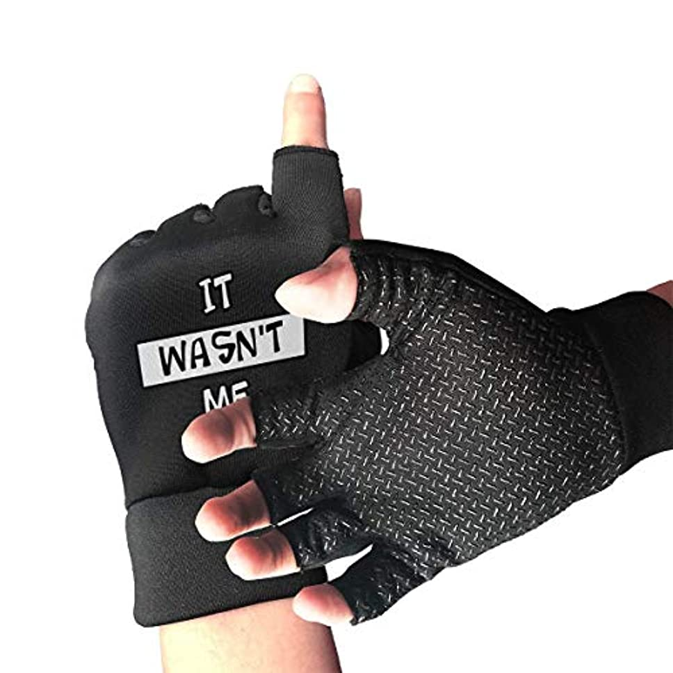遺跡スクワイア可聴それは私ではありませんでしたFingerless/Half Finger Gloves自転車用グローブ/Cycling Mountain Gloves/オートバイ用手袋、スリップ防止、ショック吸収性 メンズ/レディースグローブ